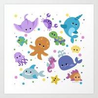 Ocean Cuties Art Print
