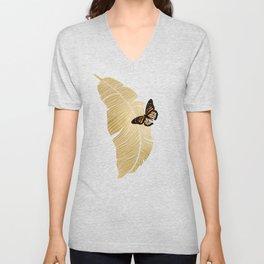 Butterfly & Palm Unisex V-Neck