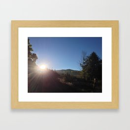 SUNRISE GREETING (Crescent Trail, Fairport, NY) Framed Art Print