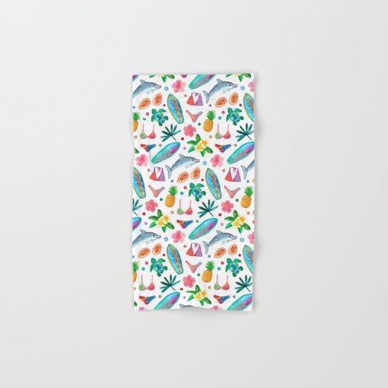 Dotty Summer Beach Pattern Hand & Bath Towel