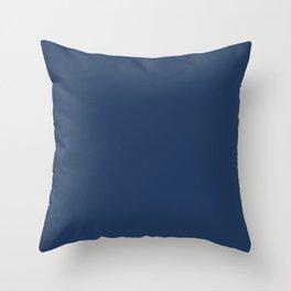 """Navy Peony"" pantone color Throw Pillow"