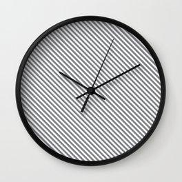 Sharkskin Stripe Wall Clock
