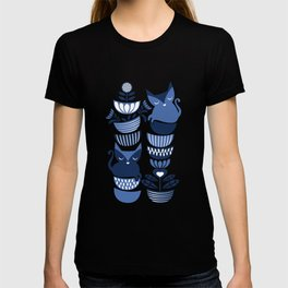 Swedish folk cats I // Indigo blue background T-shirt