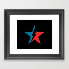 Bowie Star black Framed Art Print