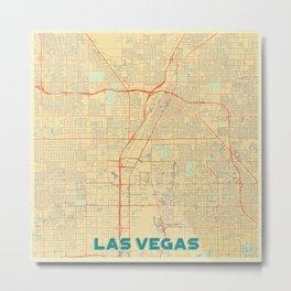 Las Vegas Map Retro Metal Print
