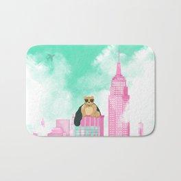 Teddy Bear in New York Bath Mat