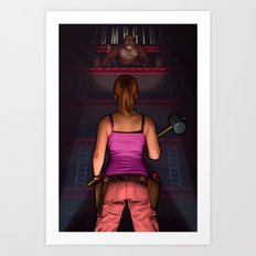 Jumpgirl Art Print