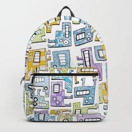 Pastel Tetris Monsters Backpack