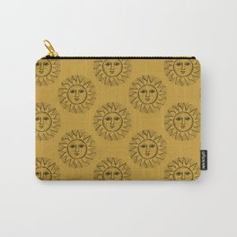 Vintage Mustard Celestial Sun Carry-All Pouch