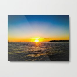 Toast to the Sunset Metal Print