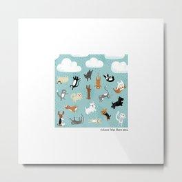 Raining Cats & Dogs Metal Print