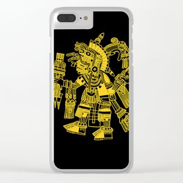 Ancient Mexican Design 2 Clear iPhone Case