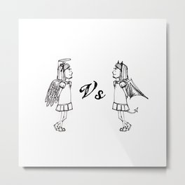 Good vs. Evil Metal Print