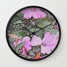 Impatient Pink Wall Clock