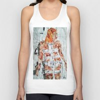 fifth element Tank Tops featuring LEELOO THE FIFTH ELEMENT by JANUARY FROST