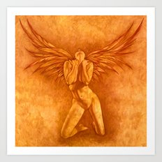 Angel Rising Art Print