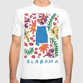 Alabama + florals T-shirt