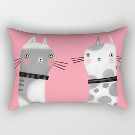 CATS ON PINK Rectangular Pillow