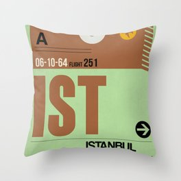 IST Istanbul Luggage Tag 2 Throw Pillow