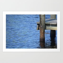 Down By The Dock Art Print