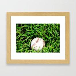 The Lost Baseball Framed Art Print
