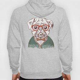 Hipster pug Hoody