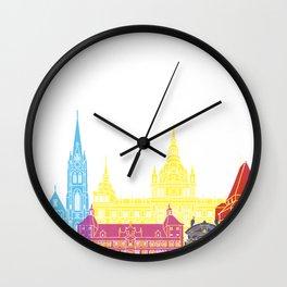 Graz skyline pop Wall Clock