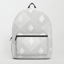 Harlequins Pattern - Ghost White Backpack
