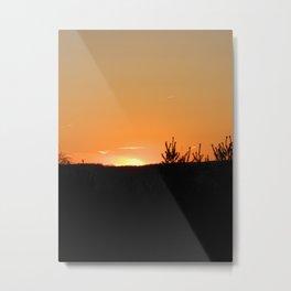 Sky On Fire Photography Metal Print
