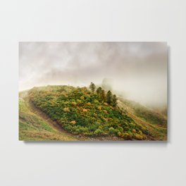 Autumn valley in the cloud Metal Print