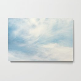 Blue Sky with White Clouds Metal Print