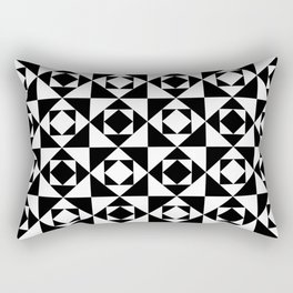 Squares in Squares Rectangular Pillow