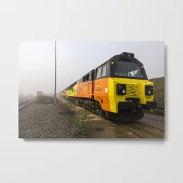 Class 70s in the Mist Metal Print