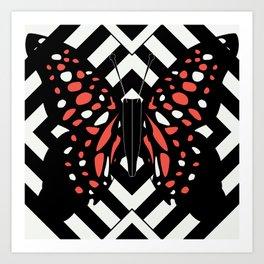 Hazy Bright Butterfly Art Print