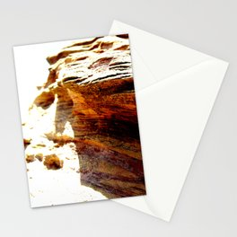 Olas en las rocas Stationery Cards