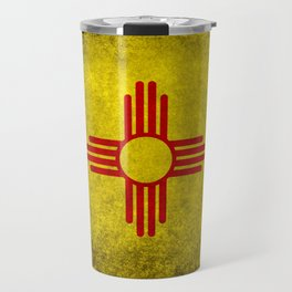 Flag of New Mexico - vintage retro style Travel Mug