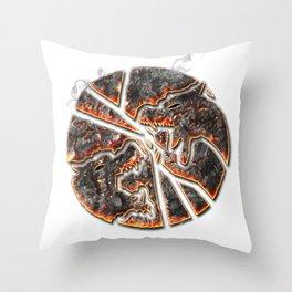 Magma Emblem on white Throw Pillow