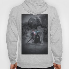 Luke fighting against his father. Hoody