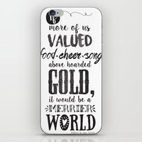 tolkien iPhone & iPod Skins featuring Tolkien quote by Pau Ricart