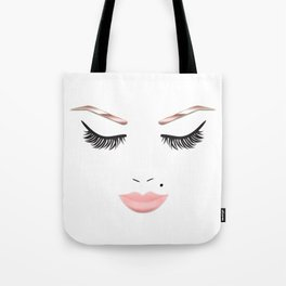Rose Gold Beauty Face Tote Bag