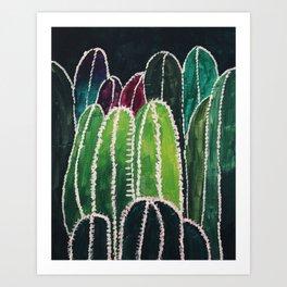 Cactus Field Greens Art Print