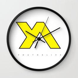 Youth Alive Yellow & Black on White Wall Clock