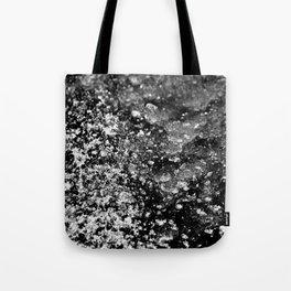 Cracked, Sparkling Black Ice Tote Bag