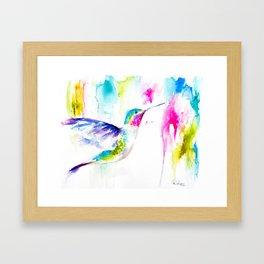 Colorful Hummingbird Framed Art Print