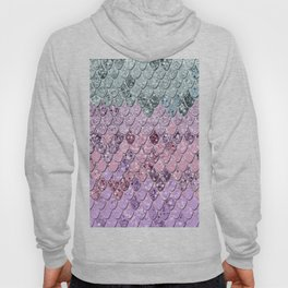 Mermaid Scales with Unicorn Girls Glitter #4 #shiny #pastel #decor #art #society6 Hoody