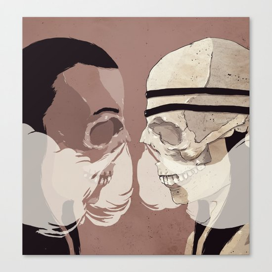 Skull Mask Canvas Print