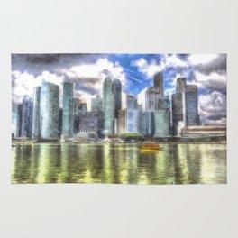 Singapore Marina Bay Sands Art Rug
