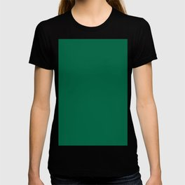 Green Bamboo Solid Color Block T-shirt