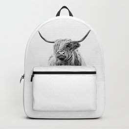 portrait of a highland cattle Backpack
