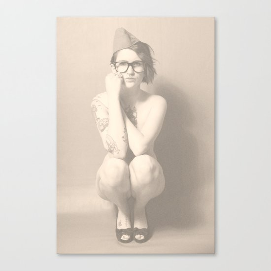 join the nerd-army Canvas Print
